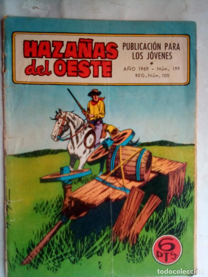 HAZAÑAS DEL OESTE - Nº 199 -JUAN ARRANZ-FERRÁN DELMÁS-F.SESÉN-1969-DIFÍCIL-CORRECTO-LEAN-0993 (Tebeos y Comics - Toray - Hazañas del Oeste)
