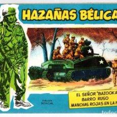 Tebeos: HAZAÑAS BELICAS. VOLUMEN 18. TORAY, 1957. ORIGINAL. Lote 162010193