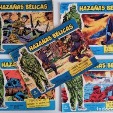 Tebeos: COLECCIÓN HAZAÑAS BÉLICAS Nº 93, 133, 173, 175, 204 NUMEROS EXTRAS - NIEVE EN LLAMAS Y OTROS. Lote 162184598