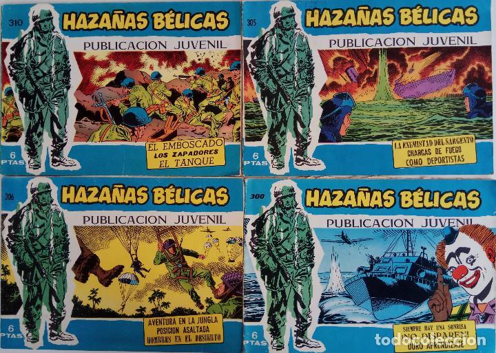 COLECCIÓN HAZAÑAS BELICAS Nº 300, 305, 306, 310 - SIEMPRE HAY UNA SONRISA, ¡NO DISPAREN! Y OTROS (Tebeos y Comics - Toray - Hazañas Bélicas)