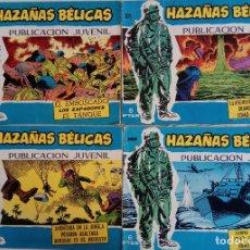 Tebeos: COLECCIÓN HAZAÑAS BELICAS Nº 300, 305, 306, 310 - SIEMPRE HAY UNA SONRISA, ¡NO DISPAREN! Y OTROS. Lote 162190122
