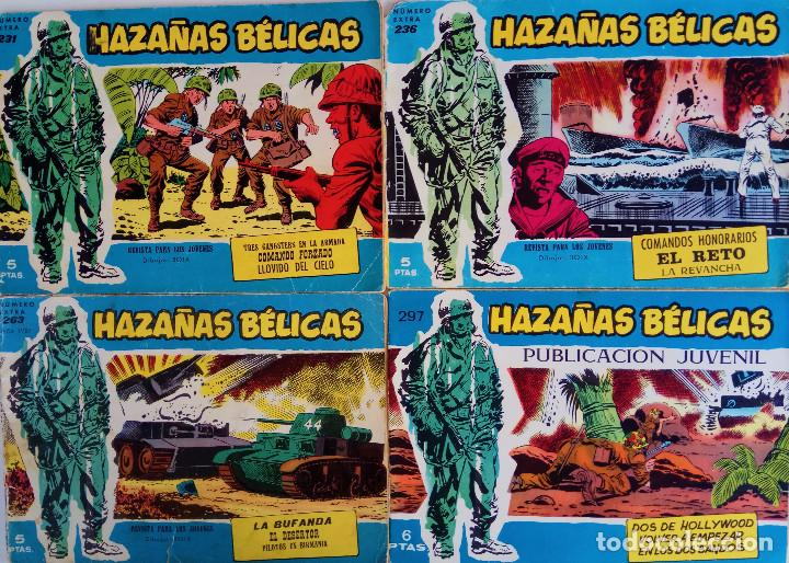 COLECCIÓN BÉLICAS Nº 231 EXTRA, 236 EXTRA, 263 EXTRA, 297 - TRES GANGSTERS EN LA ARMADA Y OTROS (Tebeos y Comics - Toray - Hazañas Bélicas)