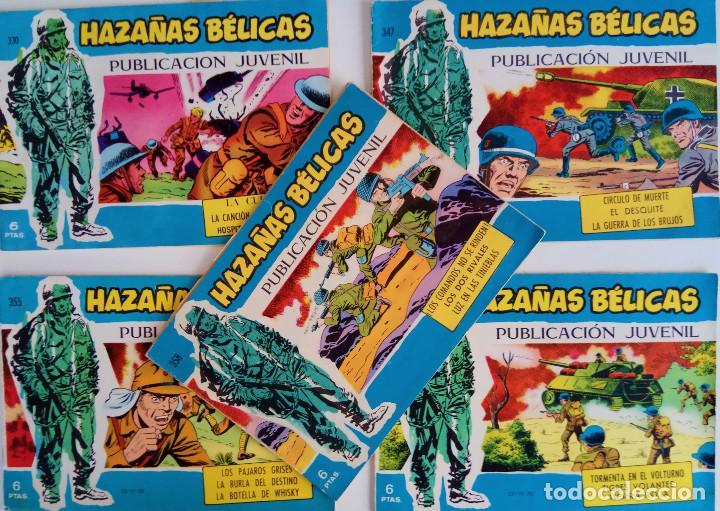 COLECCIÓN HAZAÑAS BÉLICAS Nº 330, 347, 355, 356, 358 - LA CUERDA, LA CANCIÓN DE UN COBARDE Y OTROS (Tebeos y Comics - Toray - Hazañas Bélicas)