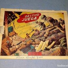 Tebeos: ANTIGUO COMIC DE HAZAÑAS BELICAS EL DESTINO JUEGA DE EDICIONES TORAY ORIGINAL VER FOTO Y DESCRIPCION. Lote 162686082