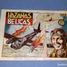 Tebeos: ANTIGUO COMIC DE HAZAÑAS BELICAS VOL. 5 DE EDICIONES TORAY ORIGINAL VER FOTO Y DESCRIPCION. Lote 162687554