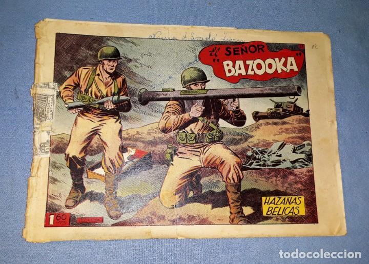 ANTIGUO COMIC DE HAZAÑAS BELICAS EL SEÑOR BAZOOKA EDICIONES TORAY ORIGINAL VER FOTO Y DESCRIPCION (Tebeos y Comics - Toray - Hazañas Bélicas)