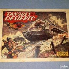 Tebeos: ANTIGUO COMIC DE HAZAÑAS BELICAS TANQUES DESIERTO EDICIONES TORAY ORIGINAL VER FOTO Y DESCRIPCION. Lote 162690454