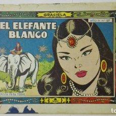 Tebeos: COLECCION GRACIELA, Nº 189, EL ELEFANTE BLANCO. Lote 163613602