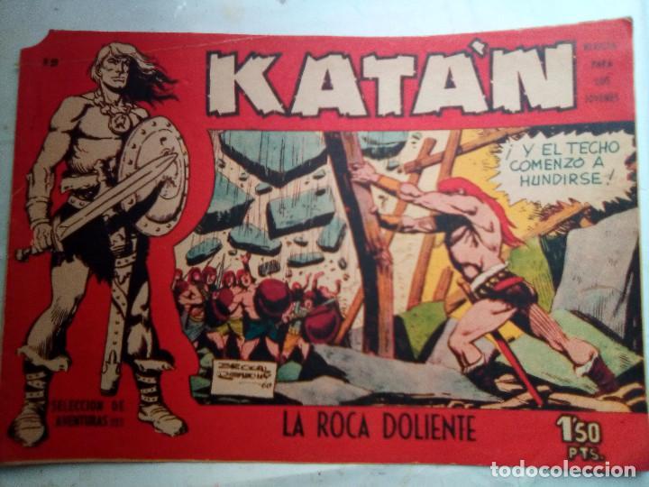 KATÁN - Nº 19 -LA ROCA DOLIENTE- 1961-GRAN BROCAL- FANTASÍA HEROICA- BUENO-MUY DIFÍCIL-LEAN-1132 (Tebeos y Comics - Toray - Katan)