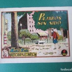 Tebeos: MARI-LUZ (1950, TORAY) 13 · 1951 · PÁJAROS SIN NIDO. Lote 165543878