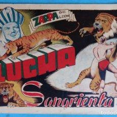 Tebeos: ZARPA DE LEON , ALBUM 7 , LUCHA SANGRIENTA , ANTIGUO , ORIGINAL , CT1. Lote 167824288