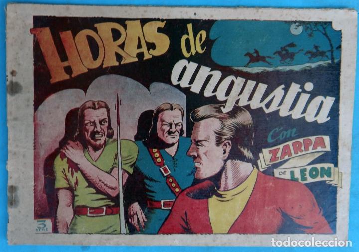 ZARPA DE LEON , ALBUM 16 XVI , HORAS DE ANGUSTIA , ANTIGUO , ORIGINAL , CT1 (Tebeos y Comics - Toray - Zarpa de León)