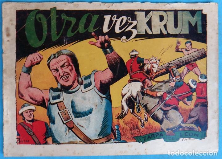ZARPA DE LEON , ALBUM 18 XVIII , OTRA VEZ KRUM , ANTIGUO , ORIGINAL , CT1 (Tebeos y Comics - Toray - Zarpa de León)