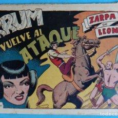 Tebeos: ZARPA DE LEON , ALBUM 19 XIX , KRUM VUELVE AL ATAQUE , ANTIGUO , ORIGINAL , CT1 . Lote 167825036