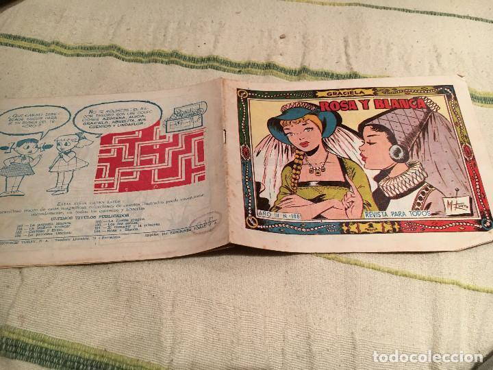 COLECCION GRACIELA Nº 108 ROSA Y BLANCA (Tebeos y Comics - Toray - Graciela)
