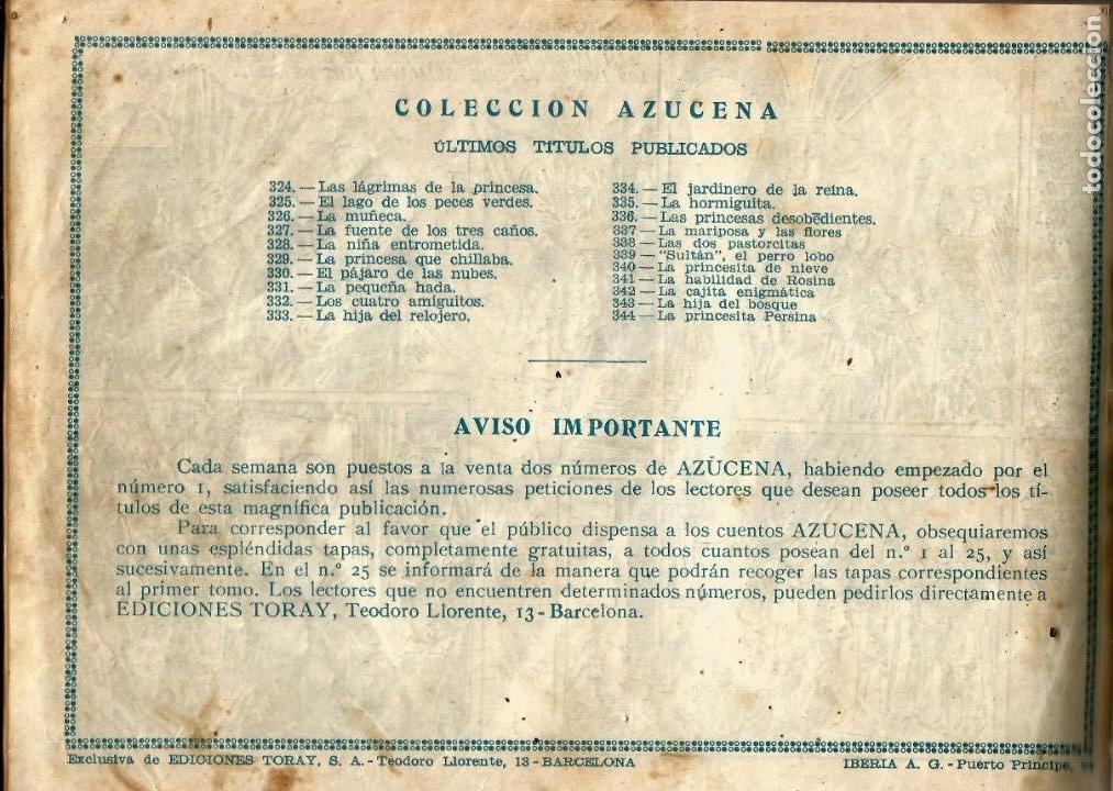 Tebeos: COLECCION ORIGINAL AZUCENA ENCUADERNADA DE 40 TEBEOS. EDITORIAL TORAY, AÑOS -50-60. - Foto 7 - 127636095