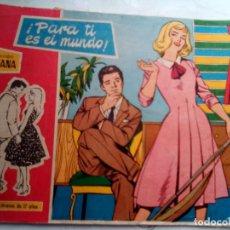 Tebeos: SUSANA- Nº 21-¡PARA TI ES EL MUNDO!-1959-EL GRAN FÉLIX MÁS-BELLÍSIMO-DIFÍCIL-CORRECTO-LEAN-1430. Lote 169215730