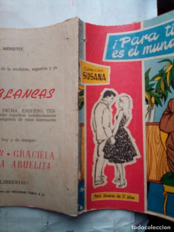 Tebeos: SUSANA- Nº 21-¡PARA TI ES EL MUNDO!-1959-EL GRAN FÉLIX MÁS-BELLÍSIMO-DIFÍCIL-CORRECTO-LEAN-1430 - Foto 2 - 169215730