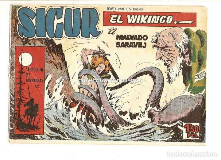 SIGUR EL WIKINGO Nº 3 TEBEO ORIGINAL 1958 EL MALVADO SARAJEV EDICIONES TORAY BUEN ESTADO LEER !! (Tebeos y Comics - Toray - Otros)