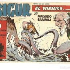 Tebeos: SIGUR EL WIKINGO Nº 3 TEBEO ORIGINAL 1958 EL MALVADO SARAJEV EDICIONES TORAY BUEN ESTADO LEER !!. Lote 169416048