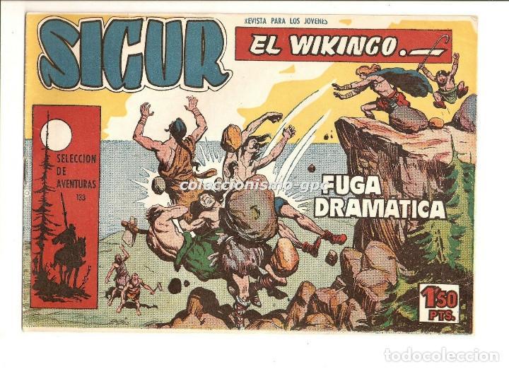 SIGUR EL WIKINGO Nº 4 TEBEO ORIGINAL 1958 FUGA DRAMATICA EDICIONES TORAY MUY BUEN ESTADO LEER !! (Tebeos y Comics - Toray - Otros)