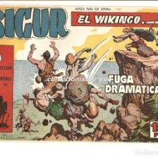 Tebeos: SIGUR EL WIKINGO Nº 4 TEBEO ORIGINAL 1958 FUGA DRAMATICA EDICIONES TORAY MUY BUEN ESTADO LEER !!. Lote 169416372