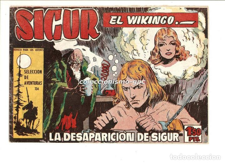 SIGUR EL WIKINGO Nº 5 TEBEO ORIGINAL 1958 LA DESAPARICION DE SIGUR EDICIONES TORAY MUY BUEN ESTADO ! (Tebeos y Comics - Toray - Otros)