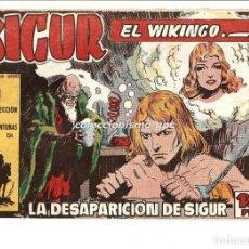 Tebeos: SIGUR EL WIKINGO Nº 5 TEBEO ORIGINAL 1958 LA DESAPARICION DE SIGUR EDICIONES TORAY MUY BUEN ESTADO !. Lote 169416628