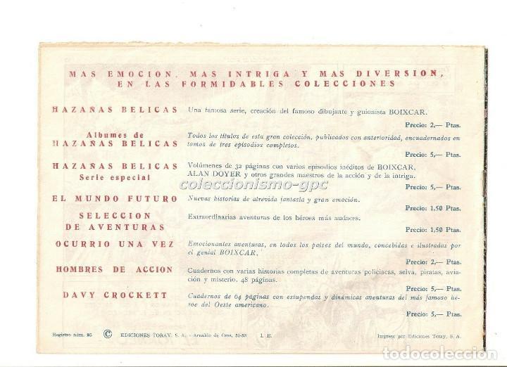 Tebeos: SIGUR EL WIKINGO nº 5 TEBEO ORIGINAL 1958 LA DESAPARICION DE SIGUR Ediciones TORAY Muy Buen Estado ! - Foto 2 - 169416628