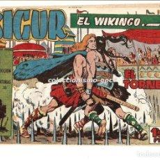 Tebeos: SIGUR EL WIKINGO Nº6 TEBEO ORIGINAL 1958 EL TORNEO EDICIONES TORAY BUEN ESTADO OFERTA LEER !!. Lote 169417188