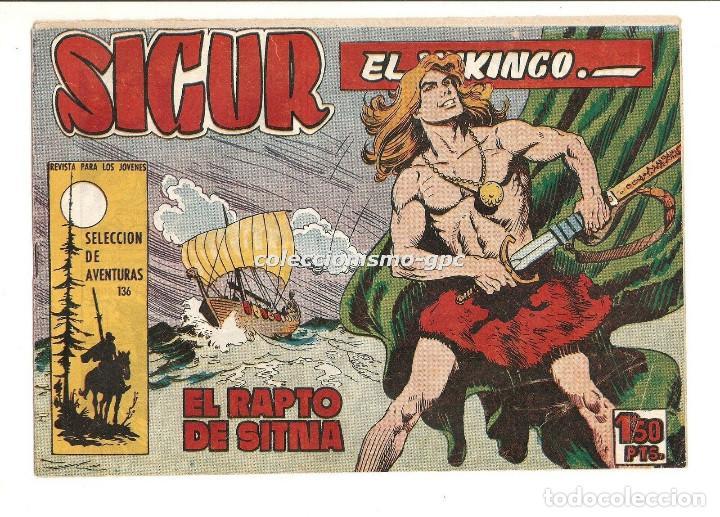 SIGUR EL WIKINGO Nº 7 TEBEO ORIGINAL 1958 EL RAPTO DE SITNA EDICIONES TORAY MUY BUEN ESTADO LEER !!! (Tebeos y Comics - Toray - Otros)