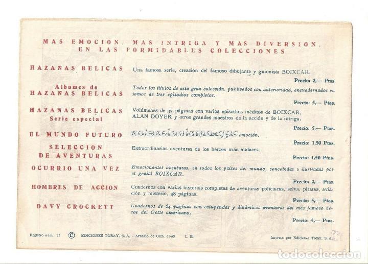 Tebeos: SIGUR EL WIKINGO nº 7 TEBEO ORIGINAL 1958 EL RAPTO DE SITNA Ediciones TORAY Muy Buen Estado Leer !!! - Foto 2 - 169784872