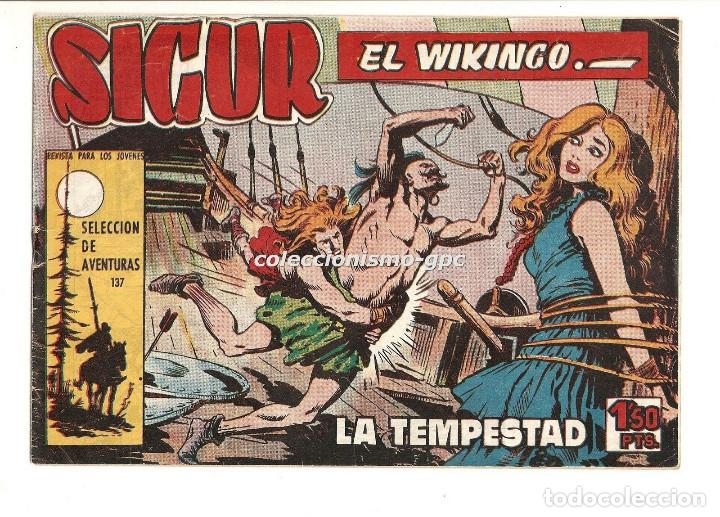 SIGUR EL WIKINGO Nº 8 TEBEO ORIGINAL 1958 LA TEMPESTAD EDICIONES TORAY MUY BUEN ESTADO LEER !!! (Tebeos y Comics - Toray - Otros)