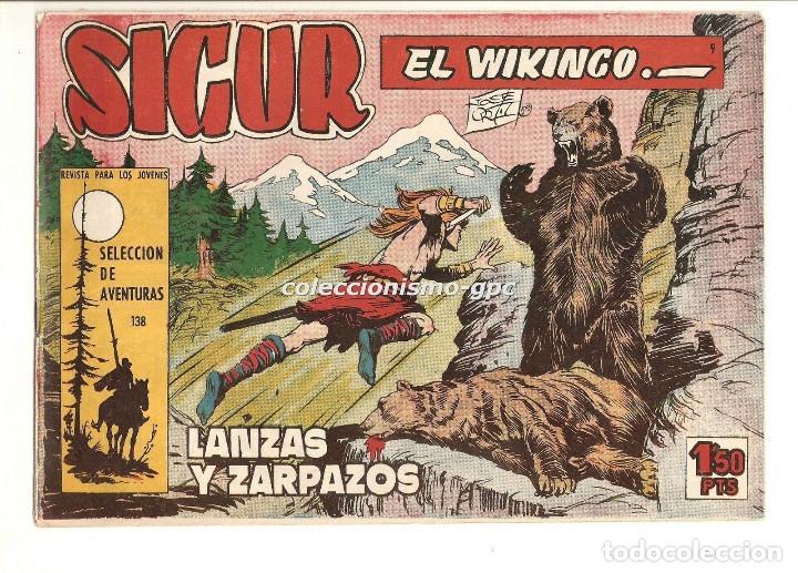 SIGUR EL WIKINGO Nº 9 TEBEO ORIGINAL 1958 LANZAS Y ZARPAZOS EDICIONES TORAY MUY BUEN ESTADO LEER !!! (Tebeos y Comics - Toray - Otros)