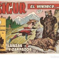 Tebeos: SIGUR EL WIKINGO Nº 9 TEBEO ORIGINAL 1958 LANZAS Y ZARPAZOS EDICIONES TORAY MUY BUEN ESTADO LEER !!!. Lote 169929052