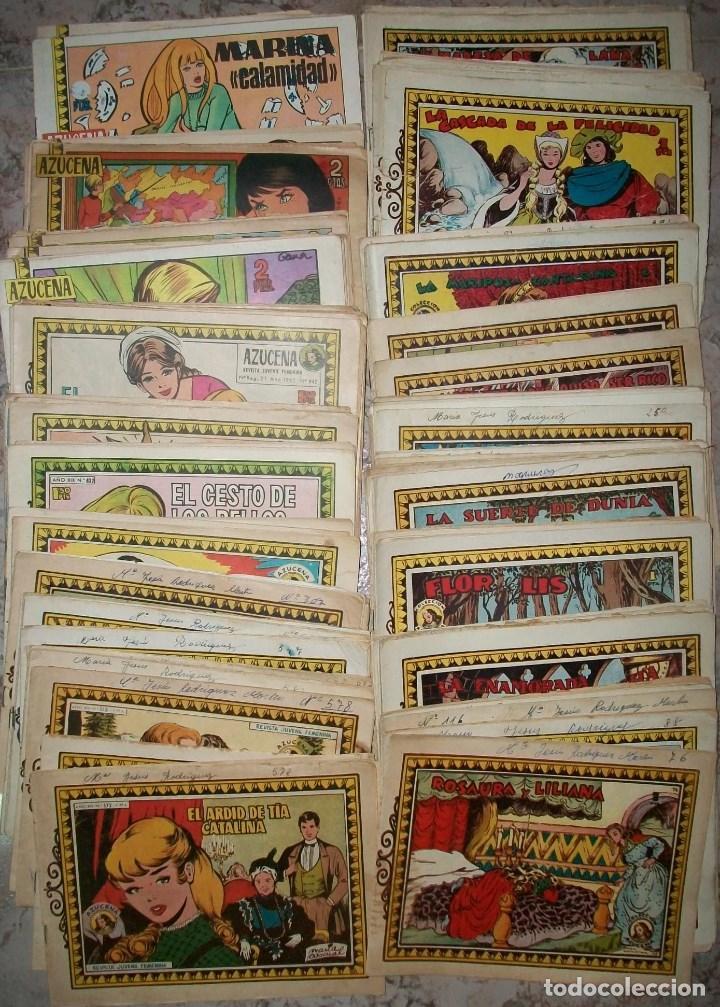 AZUCENA LOTE DE 186 TEBEOS DIFERENTES (Tebeos y Comics - Toray - Azucena)