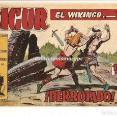 Tebeos: SIGUR EL WIKINGO Nº 12 TEBEO ORIGINAL 1958 ¡ DERROTADO ! EDICIONES TORAY BUEN ESTADO LEER !!. Lote 170416708