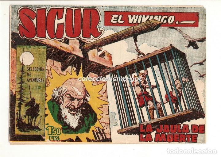 SIGUR EL WIKINGO Nº 13 TEBEO ORIGINAL 1958 LA JAULA DE LA MUERTE EDICIONES TORAY BUEN ESTADO LEER !! (Tebeos y Comics - Toray - Otros)