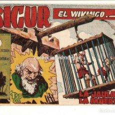 Tebeos: SIGUR EL WIKINGO Nº 13 TEBEO ORIGINAL 1958 LA JAULA DE LA MUERTE EDICIONES TORAY BUEN ESTADO LEER !!. Lote 170417156