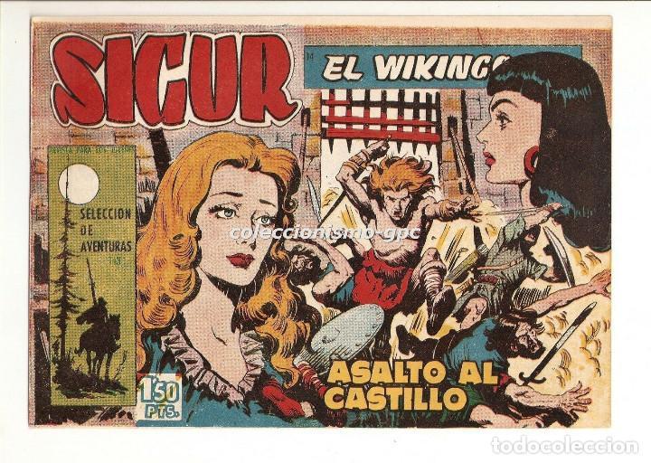 SIGUR EL WIKINGO Nº 14 TEBEO ORIGINAL 1958 ASALTO AL CASTILLO EDICIONES TORAY BUEN ESTADO LEER !! (Tebeos y Comics - Toray - Otros)