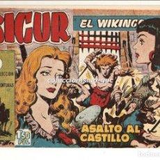 Tebeos: SIGUR EL WIKINGO Nº 14 TEBEO ORIGINAL 1958 ASALTO AL CASTILLO EDICIONES TORAY BUEN ESTADO LEER !!. Lote 170417600