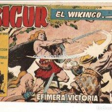 Tebeos: SIGUR EL WIKINGO Nº 15 TEBEO ORIGINAL 1958 EFIMERA VICTORIA EDICIONES TORAY BUEN ESTADO LEER !!. Lote 170419576