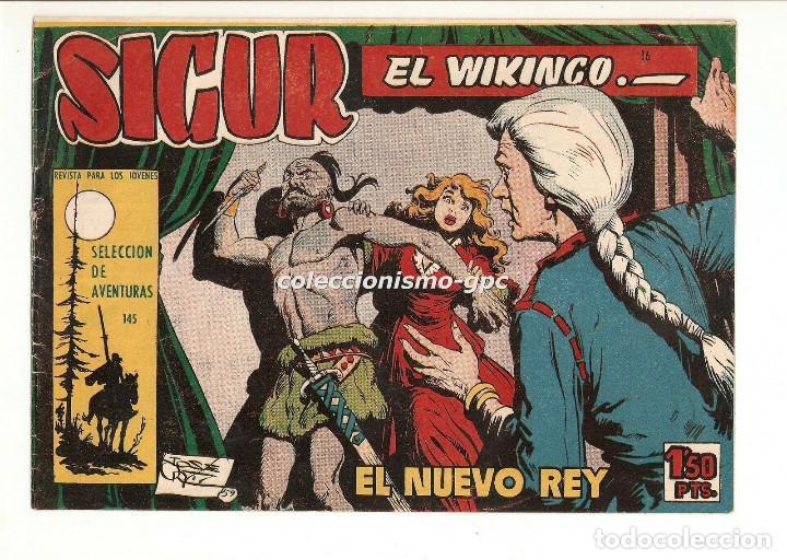 SIGUR EL WIKINGO Nº 16 TEBEO ORIGINAL 1958 EL NUEVO REY EDICIONES TORAY BUEN ESTADO LEER !! (Tebeos y Comics - Toray - Otros)