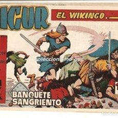 Tebeos: SIGUR EL WIKINGO Nº 17 TEBEO ORIGINAL 1958 BANQUETE SANGRIENTO EDICIONES TORAY BUEN ESTADO LEER !!. Lote 170421012