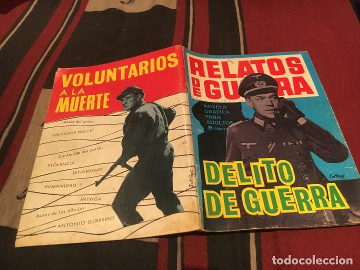 RELATOS DE GUERRA N°107 - DELITO DE GUERRA - EDICIONES TORAY 1966 (Tebeos y Comics - Toray - Otros)