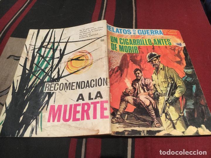 RELATOS DE GUERRA N°135 UN CIGARRILLO ANTES DE MORIR - EDICIONES TORAY 1967 (Tebeos y Comics - Toray - Otros)
