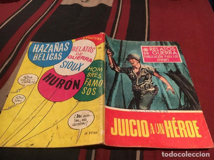 RELATOS DE GUERRA N°149 -JUICIO A UN HEROE - EDICIONES TORAY 1968 (Tebeos y Comics - Toray - Otros)