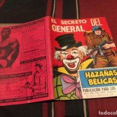 Tebeos: HAZAÑAS BELICAS GORILA - Nº 306 - EL SECRETO DEL GENERAL - EDICIONES TORAY 1970. Lote 180155168