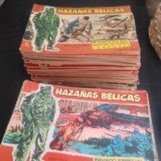 Tebeos: HAZAÑAS BÉLICAS, ORIGINAL AÑOS 60 LOTE DE 135 NUMEROS. Lote 171480272