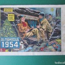 Tebeos: HAZAÑAS BELICAS (1950, TORAY) -2ª- EXTRA 4 · XII-1953 · ALMANAQUE 1954. Lote 172570017